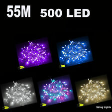 55m 500 LED 24 Volt Christmas Party Wedding Fairy String Light  Rope Lights