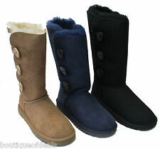 UGG Australia Womens Bailey Button Triplet Boots Chestnut Navy Black NIB