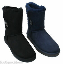 UGG Australia Womens Bailey Button Boots Navy Black 5803 NIB