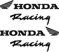 Pair of Honda Racing Vinyl Decal Stickers Size Color Option Off Road ATV Street