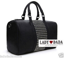 MANGO MNG 2012 Leather Stud Travel Luggage Bag Vintage Shoulder Handbag New Gift