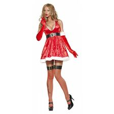 Sexy Christmas Costume Womens Santa Outfit Mrs Claus Fancy Dress