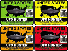 "4"" United States Alien Hunting Permit Sticker Decal USA 4 colors available"