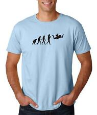 Mens Evolution of Man Skydiving Airplane Jump Skydive Parachute T-Shirt Tee