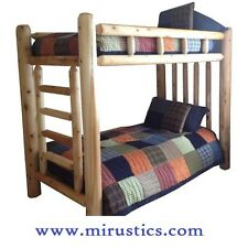 Rustic Cedar Log Bunk Bed - Traditional Series