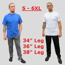 Extra long leg jogging bottoms Mens S - 6XL  34 - 38 leg Womens 8 -36 Big & Tall