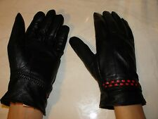 Pair of Genuine Leather Women's Gloves.Winter Gloves with Lining.