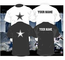 Dallas Cowboys Shirt w/ CUSTOM jersey print.