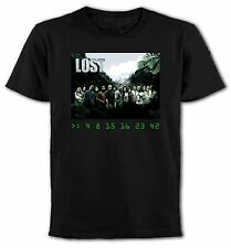 LOST CAST and NUMBERS DHARMA INITIATIVE MENS T-SHIRT Slogan/Geek/TV show