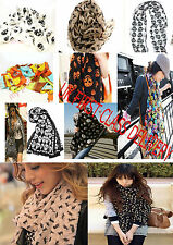 New animal leopard skull flower cat kitten scarf UK first class delivery