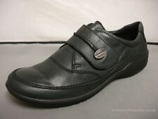 Women's Josef Seibel Florence 05 Black/Red Leather Casual Velcro Shoes EU 38-41