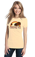 ANOTHER BEAUTIFUL DAY IN ODESSA, TX Retro Adult Ladies' T-shirt. Texas City Pri
