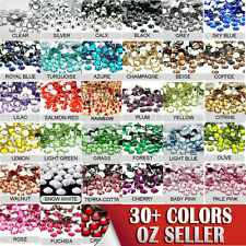 40-500 AVANT CRYSTAL FLAT BACK RHINESTONES ASSORTED COLOURS/SIZES NAIL ART CRAFT