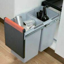 Cube Kitchen Waste Bin Hinged Door 300mm Units 2x15 - 3x10 Litres Base Mounted