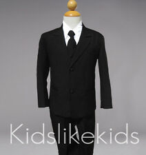 Boys Toddler Tuxedo Suit Black 0-24 months 2T 3T 4T 5 6 7 8 10 12 14 16 18 20