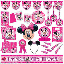 Disney MINNIE MOUSE Pink Party Items Tableware Decorations Supplies PA