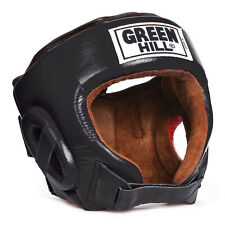 Greenhill head guard best helmet leather ufc mma martial arts kick boxing black