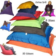 Cotton Drill  Adult & Kids Size Giant Cushions Large Bean Bag Lounger With Beans