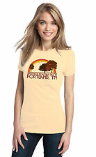 ANOTHER BEAUTIFUL DAY IN PORTLAND, TN Retro Adult Ladies' T-shirt. Tennessee Ci