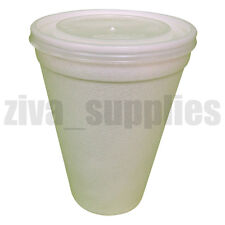 Disposable LARGE COFFEE/TEA CUPS & LIDS-12oz Polystyrene Catering  Take Away (L)