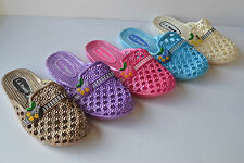 Women Casual Wear Rubber Jelly Soft Soled Slides Sandals slippers size 6~10
