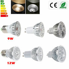Dimmable CREE GU10/E27/MR16 9W 12W LED Spotlight Warm/Cool White Lamp Bulb Lamp