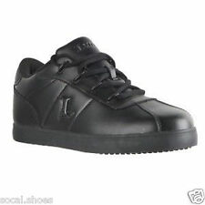 LUGZ ZROCS SR BLACK LEATHER CASUAL MEN'S SHOES NIB # MZRCSL-001 SLIP RESISTANT