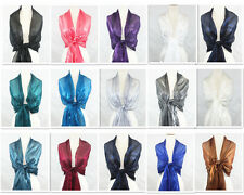 Long Party Shawl Wrap Scarf Wedding 14 Solid Colors U.S.Seller