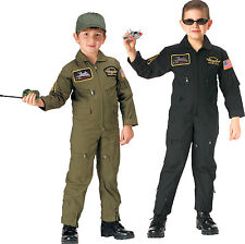 Kids Military Aviator Flightsuit Coveralls with Air Force Patches