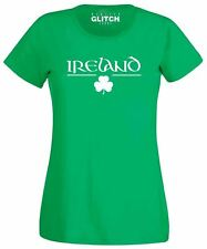 Womens Irish Clover T Shirt - St Patricks day Ladies Fitted T-Shirt Ireland EIRE