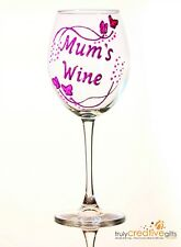 Personalised Mother's Day Gifts - Butterfly Design Wine Champagne Glass for Mum