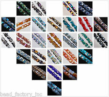 Multicolor 10mm Square Cube Faceted Crystal Glass Finding Charm Spacer Beads
