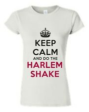 JUNIORS T-SHIRT RED/BLACK Keep Calm and Do The Harlem Shake DUBSTEP TOP S-XL 2X