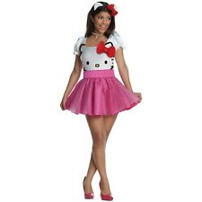 Hello Kitty Costume Adult Womens Sexy Halloween Fancy Dress