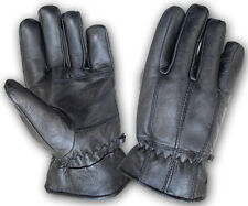 GENUINE LEATHER MEN DRESS, DRIVING, MOTORCYCLE WARM WINTER GLOVES CPG209C.