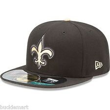 New Era 59FIFTY NEW ORLEANS SAINTS Official NFL On Field Cap Fitted Hat