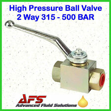 NEW HYDRAULIC High Pressure BALL VALVE BSP Isolating Shut Off Lever 2 OR 3-Way