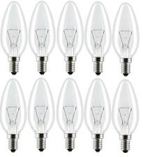 CANDLE LIGHT BULBS SES E14 SMALL SCREW CAP 25W 40W 60W CLEAR INCANDESCENT LAMPS