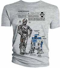 Star Wars C-3PO & R2-D2 Haynes Owners Workshop Manual T Shirt OFFICIAL
