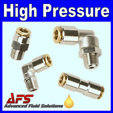 High Pressure Metal Push-in Fittings for Air or Central Lubrication Systems Tube