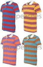 Alternative Mens Size S-2XL Eco Jersey Ugly Stripe Polo Sport T-shirt Apparel