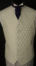 "W-173. Men's ""Nicklaus"" silver or white wedding/dress /formal/party waistcoat"