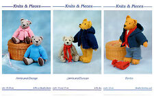 knits & pieces Sandra Polley Teddy bears & accessories knitting patterns