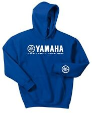 YAMAHA FACTORY RACING HOODIE SWEAT SHIRT BLUE WHITE YZF R1 R6 YFZ BANSHEE