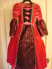 Masquerade Queen Princess Hoop Pink Boutique Costume Mardi Gras Gown WOMENS NEW