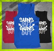 SUNS OUT GUNS OUT WORKOUT FITNESS TRAINING TEE LIFTING BODY BUILDING TANK TOP