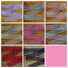 100 Yard Embroidered Net Lace Trim Ribbon 8 Color Select