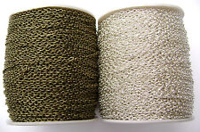 BULK Chain Cable Gold Silver Copper Brass Gunmetal MANY COLORS 318 ft SPOOL