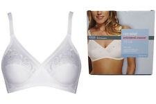 M&S Floral Embroidered Crossover Non-Wired  Full Cup Bra 32 - 44 A B C D DD E