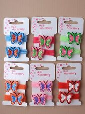 GIRLS HAIR BOBBLE PONIOS ELASTICS BANDS 4246 BUTTERFLY PARTY INFANT CUTE